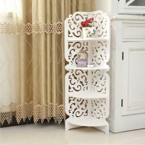 Small Telephone Table 4 Tier Corner Coffee End Plant Stand Books Furniture