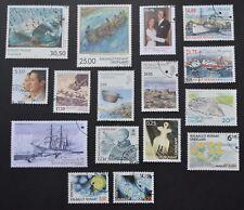 Lot de 16 timbres du Groënland issus de feuilles d'une cote totale de 81,30€