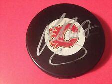 Sven Baertschi Calgary Flames Signed Auto Puck COA