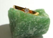 Toller Ring 55 (17,5 mm Ø) 585/14k Gold Brillant 0,060ct Diamant - Solitaire