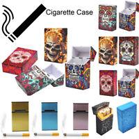 1pc Sugar Skull Smoking Cigarette Box Holder Pocket Tobacco Storage Hard Case CH