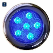 "T-H Marine Led51832Dp Puck Courtesy Light 6 Led Blue Stainl. Steel 4"" Housing Md"