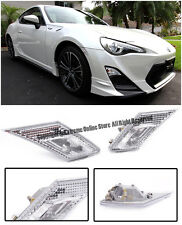 For 13-Up FR-S BRZ JDM Bumper Reflector Chrome Clear Side Marker Lights Lamps