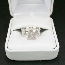 1.75 Ct Diamond Wedding Bridal Set 14K White Gold Round Engagement Ring Size 6
