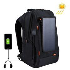 Outdoor Solar Panel Power Laptop Bag Breathable Backpack USB & Earphone Port