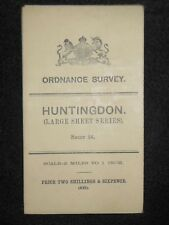 Vintage Ordnance Survey (O/S) Map of Huntingdon - 1908 - Sheet 24 - With Layers