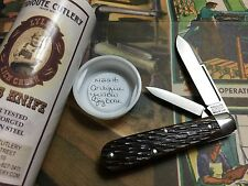 Great Eastern Cutlery Tidioute #14 Lick Creek 2 Blade Antique Yellow Jig Knife