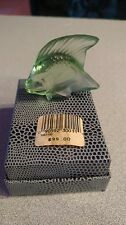 LALIQUE CRYSTAL FISH LIGHT GREEN #3001100BRAND NEW IN BOX WITH POUCH