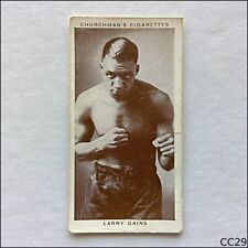 Churchman Boxing Personalities #17 Larry Gains 1938 Cigarette Card (CC29)