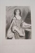 Portrait-MARIE ANNE CAROLINE VICTOIRE de BAVIERE-GRAVURE ACIER-VERSAILLES