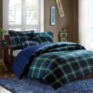Mi Zone Brody Embossed Plaid And Windowpane Pattern Twin XL Coverlet Set