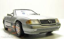 Mercedes-benz 320 sl convertible en plata-metalizado auto modelo en escala 1:43 - en su embalaje original