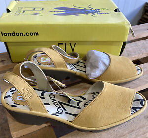 Womens Fly London Pato Sandal Bumblebee Eu41 Uk8 Bnwb leather