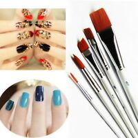 6pcs Nail Art Gel Design Pen PaInting Polish Brush Dotting Drawing Tool!