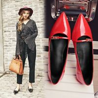 Fashion Womens Pointy Toe Slip On Mary Jane Flat Ballet Shoes Loafers Casual US