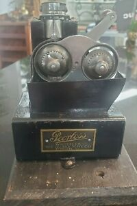 Antique RARE 2 Blade Mechanical Peerless Whittler Pencil Sharpener (Pointer)