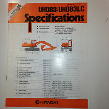 Hitachi UHO83 - UHO83LC Hydraulic Excavator Sales Literature & specifications.