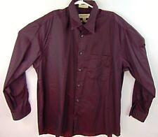 7da37fa0 Pronto Uomo Dress Shirt Burgundy Size 17 35 Non Iron Mens Wearhouse Long  Sleeve