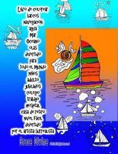 Libro de Colorear Barcos Navegación Agua Mar Oceano Olas Divertido para Todo...