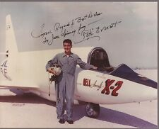 PETE EVEREST Hand Signed 8x10 Photo - Bell Aircraft x-2 Aviation - Free S/H