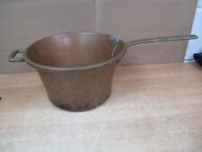 Vintage Solid Copper Hangable Pot Brass Handles Made in Italy