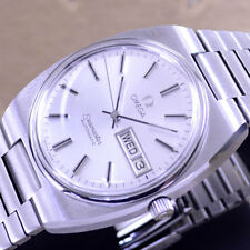 [JJ] VINTAGE OMEGA SEAMASTER AUTOMATIC SILVER DIAL DAY DRESS MEN'S WATCH