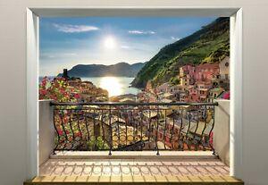 Wall Mural Photo Wallpaper 368x254cm Sun set over the Cinque Terre landscape art