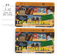 Telefonkarte - S 25 - KRÜGER - 50 DM 1 X VOLL und 1 X gebraucht