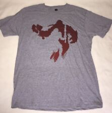 New Warcraft Loot Crate Exclusive T-Shirt Size Large Grey Red World Of Warcraft