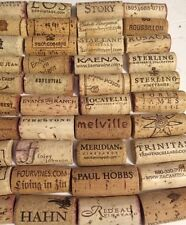 100 Used Pre-Cut Craft Red & White Wine Cork Halves No Plastic No Champagne