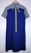 VINTAGE 1970s LADIES McDONALDS FAST FOOD UNIFORM DRESS RARE RETRO USA size 42