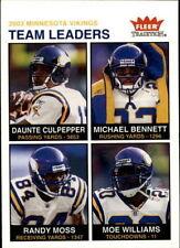 2003 FLEER TRADITION Minnesota Vikings TEAM SET Daunte Culpepper Randy Moss 5
