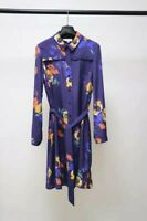 HOBBS SILK FLORAL BLUE SHIRT DRESS UK14