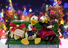 Disney Donald Duck & Daisy Christmas 3D Lenticular Greeting Card / Postcard