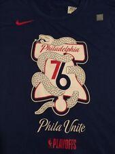 New Nike Philadelphia 76ers Phila Unite Playoff Mantra Dri-Fit T-Shirt