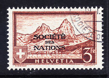 SWITZERLAND '37 SGLN29a Int Org League of Nations 3f red-brown fine use cat £250
