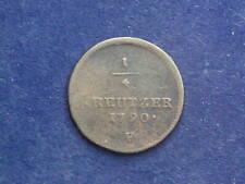 1/4  Kreuzer 1790 F Hall  Josef II.  - Habsburg RDR  W/17/969