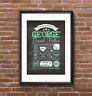 First 1st Birthday chalkboard typography keepsake Style PRINT. New baby, A4 A3