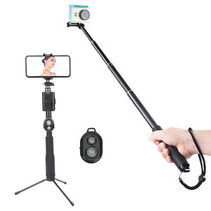 Action Camera Selfie Stick Phone Clip Stand Tripod For GoPro/DJI OSMO Pocket 2
