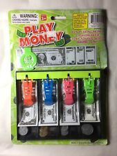 Toy Play Money With Cash Drawer Various Denomination Coins Bills Fun Educational