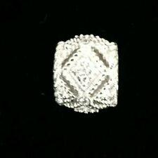 Judith Ripka Heavy Sterling Silver & Diamonique  Charm