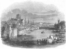 LONDON. Model of London, Surrey zoo, antique print, 1844