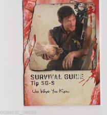 TOPPS THE WALKING DEAD SURVIVAL BOX PREMIUM INSERT CARD SURVIVAL GUIDE SG-S