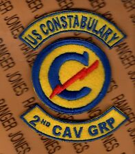 US Army 2nd CAVALRY GROUP CONSTABULARY patch tab set