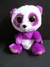 "Nwt Ty Beanie Boos 6"" Boom Boom Panda Purple Plush Boo Sparkly Eyes 2016 New"