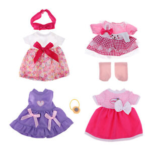 Doll Dress Set for Mellchan Baby Doll Clothes 9-11inch Reborn Doll Outfist