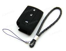 Black Silicone Case For Toyota Avensis Verso Prius Corolla Remote Smart Key 3BT