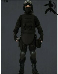 Flying Tigers 12 Sets of Tactical CS Equipment, Field Outdoor Black Suit