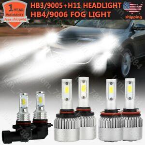 6pcs 9005 H11 9006 LED Headlight Fog Light Bulbs For Mazda CX-9 2007-2012 White