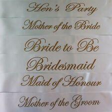 Black Pink Gold Team Bride Hen Night Do Party Sashes Bride To Be Bridesmaid Sash